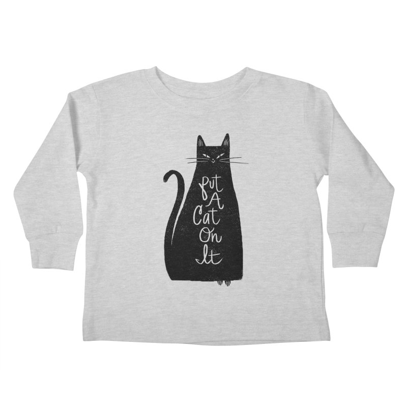 Trendy Cat Graphic Tee Kids Toddler Longsleeve T-Shirt by Zack Forer