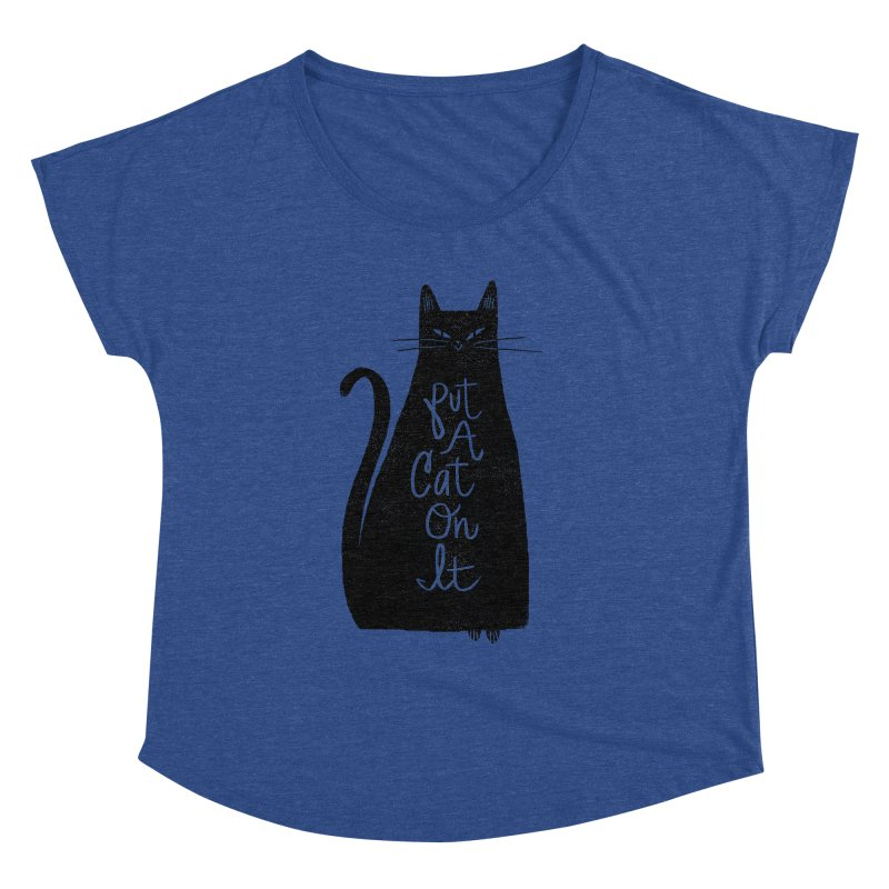 Trendy Cat Graphic Tee   by Zack Forer