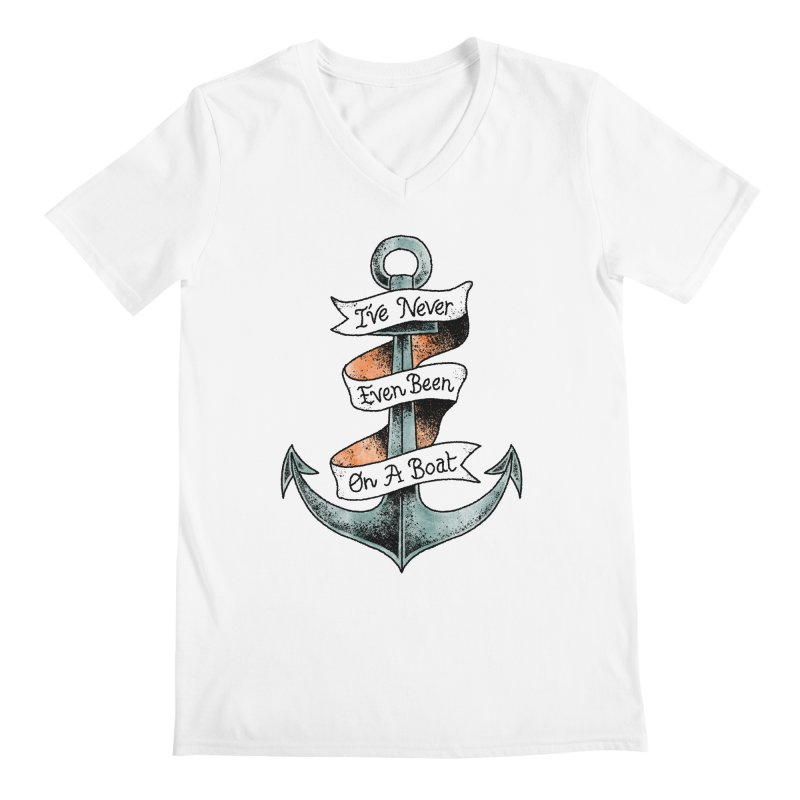 Honest Anchor Tattoo Men's V-Neck by Zack Forer