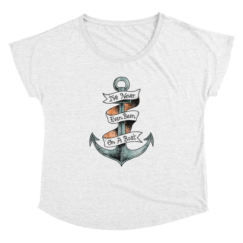 Honest Anchor Tattoo in Women's Dolman Heather White by Zack Forer