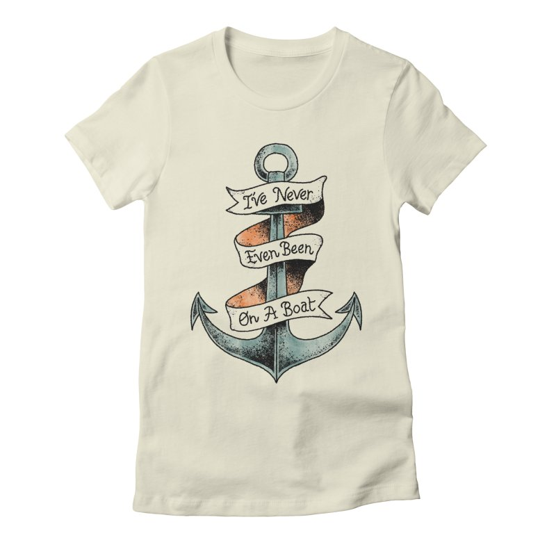 Honest Anchor Tattoo Women's Fitted T-Shirt by Zack Forer