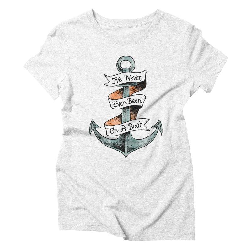 Honest Anchor Tattoo Women's Triblend T-shirt by Zack Forer