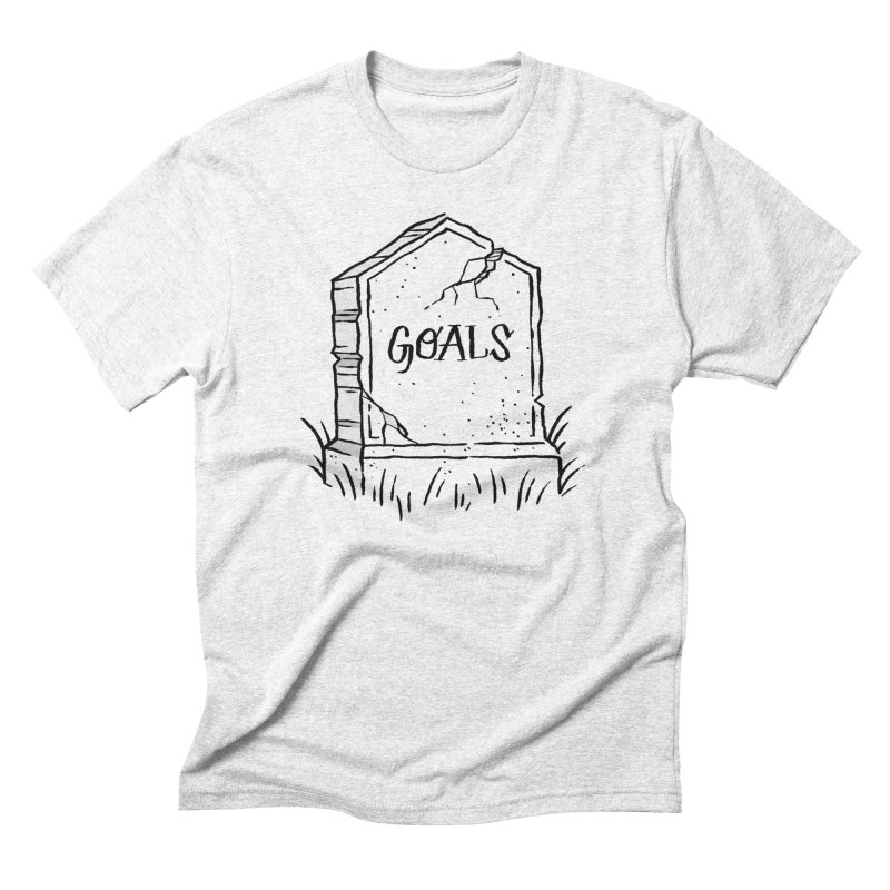 Epitaph Goals in Men's Triblend T-shirt Heather White by Zack Forer