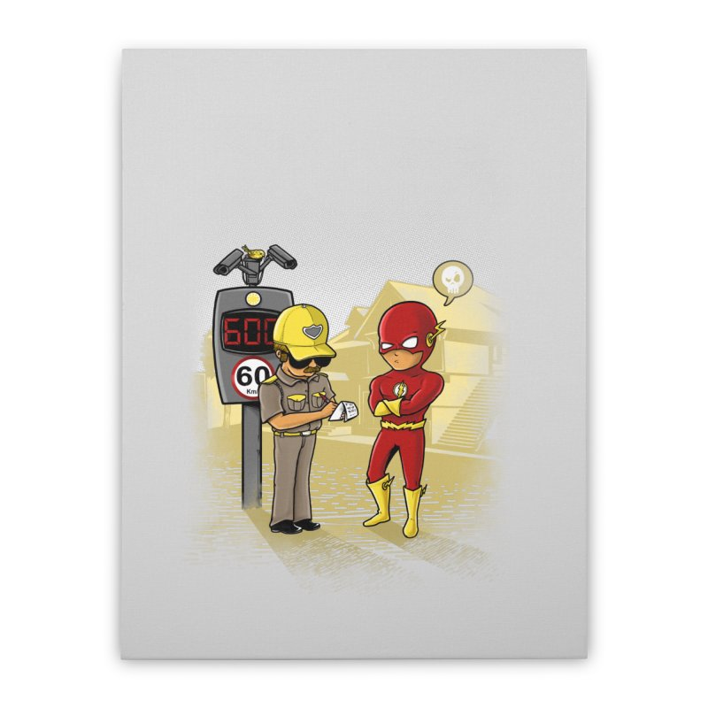 Speed Flash Home Stretched Canvas by zakeu's Artist Shop