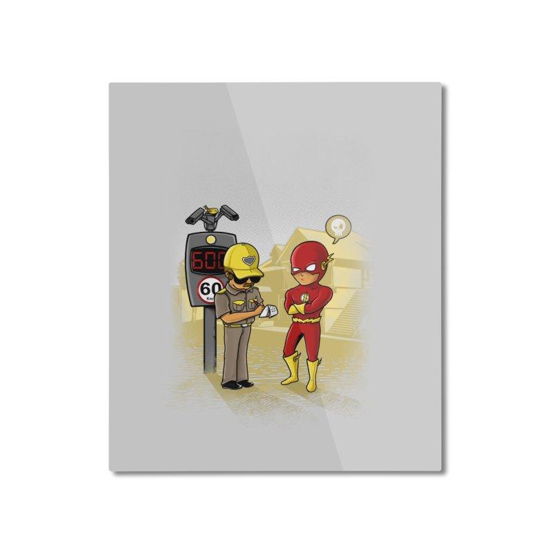 Speed Flash Home Mounted Aluminum Print by zakeu's Artist Shop