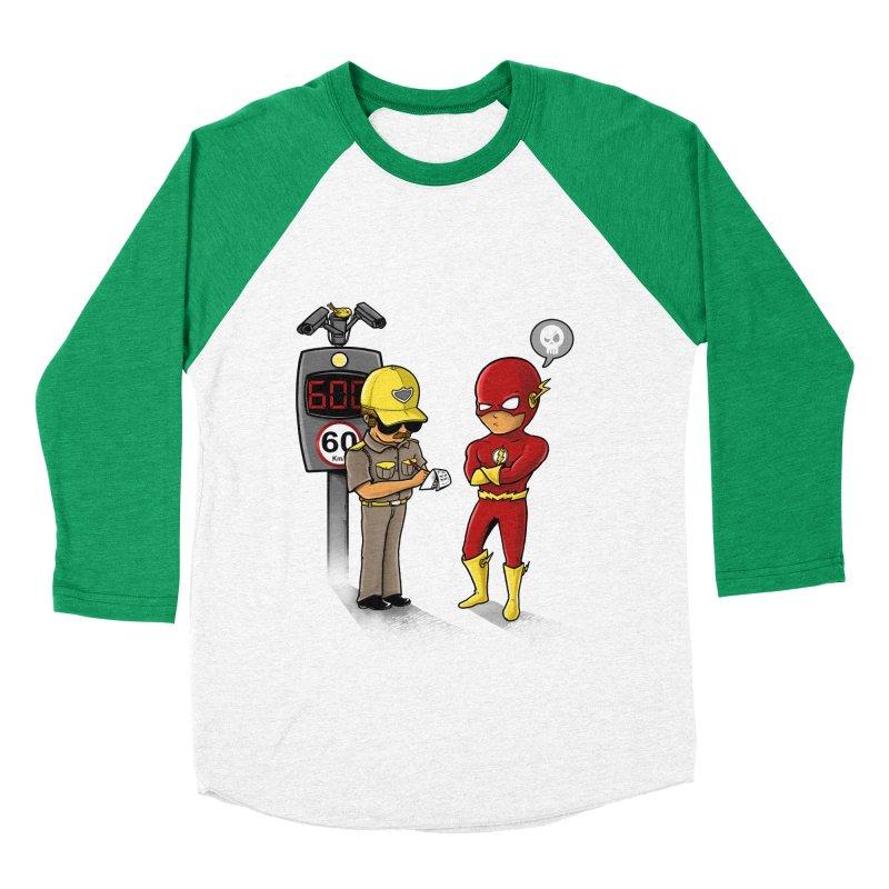 Speed Flash Women's Baseball Triblend T-Shirt by zakeu's Artist Shop