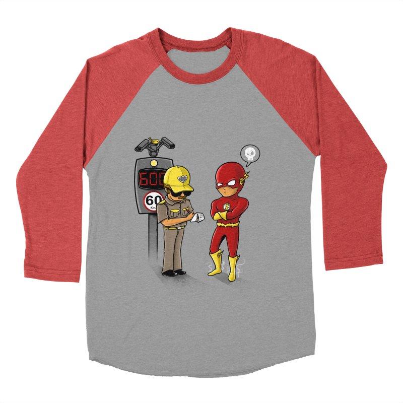 Speed Flash Men's Baseball Triblend T-Shirt by zakeu's Artist Shop