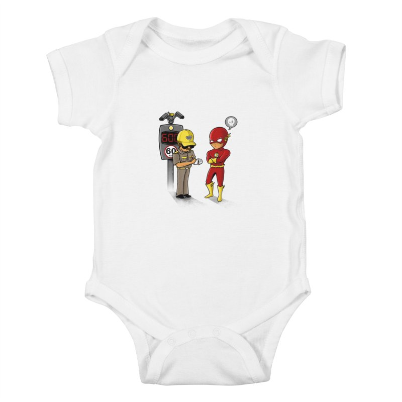 Speed Flash Kids Baby Bodysuit by zakeu's Artist Shop