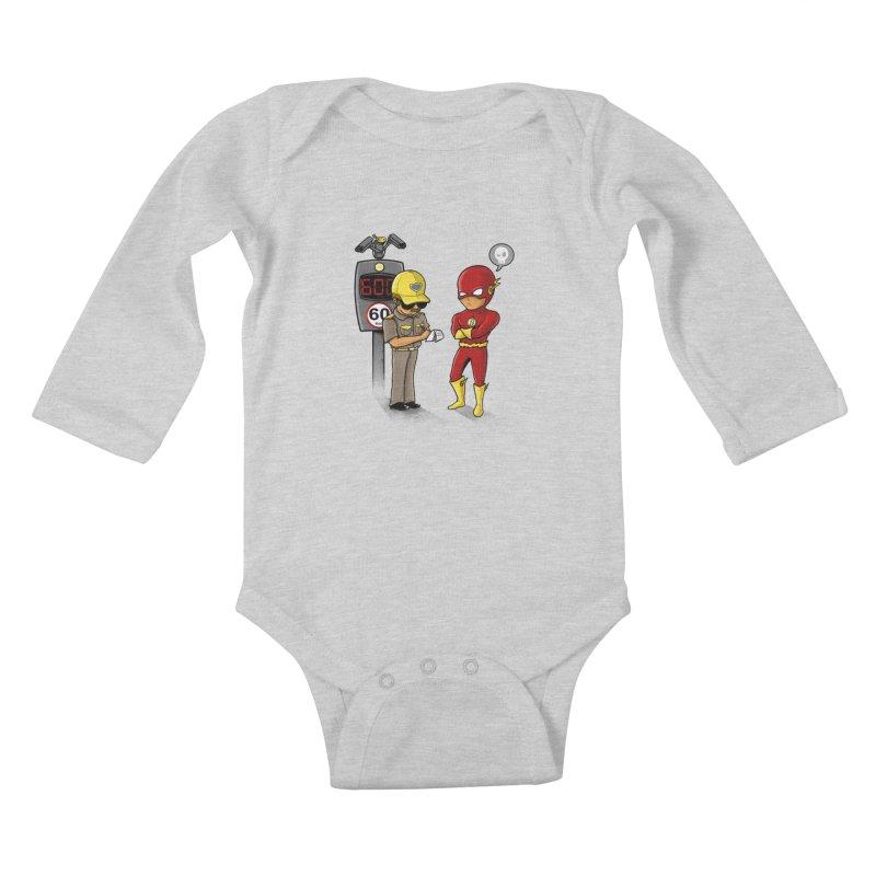 Speed Flash Kids Baby Longsleeve Bodysuit by zakeu's Artist Shop