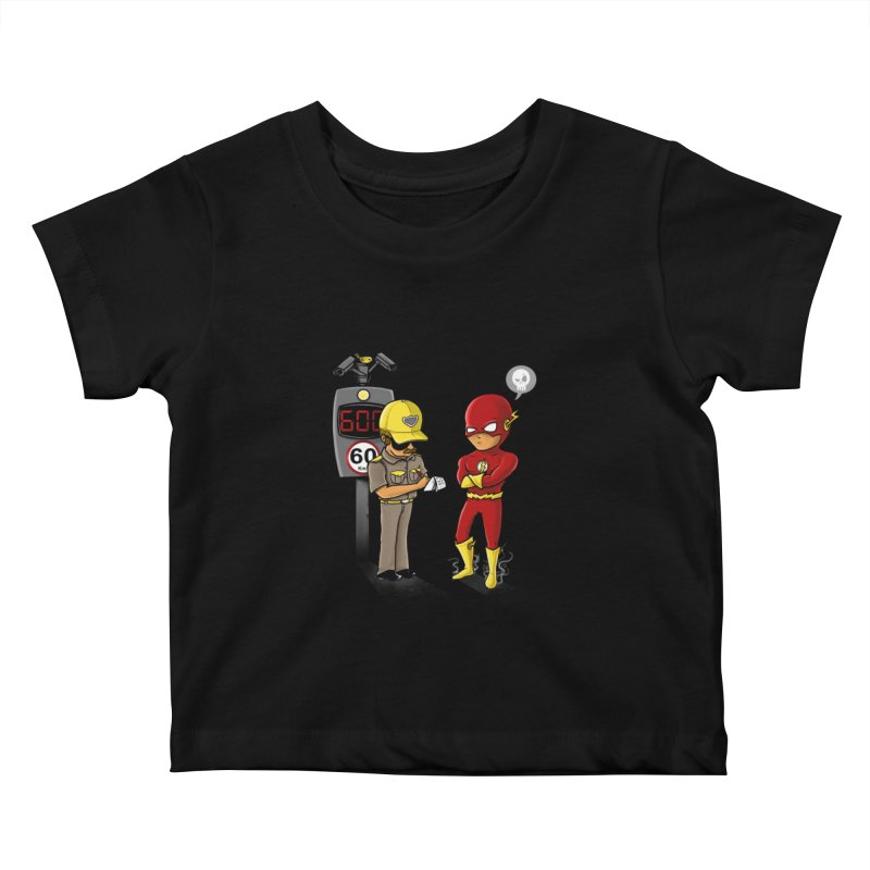 Speed Flash Kids Baby T-Shirt by zakeu's Artist Shop