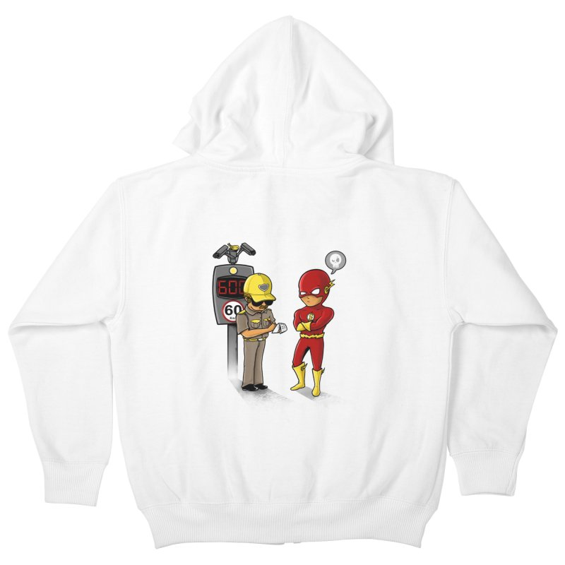 Speed Flash Kids Zip-Up Hoody by zakeu's Artist Shop