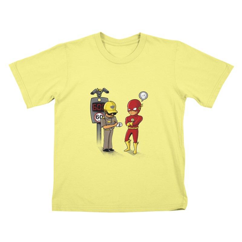 Speed Flash Kids T-shirt by zakeu's Artist Shop