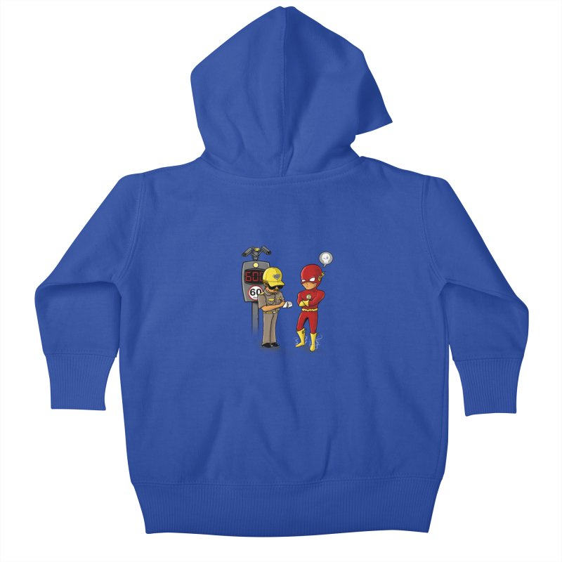 Speed Flash Kids Baby Zip-Up Hoody by zakeu's Artist Shop