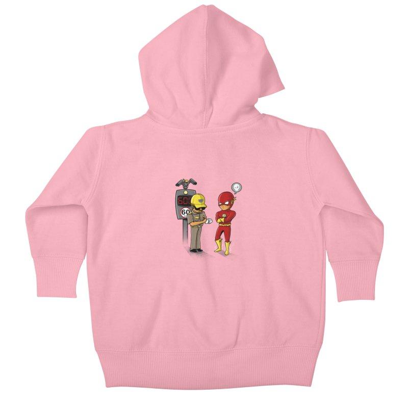 Speed Flash Kids Baby Zip-Up Hoody by zakeu's Artist Shop