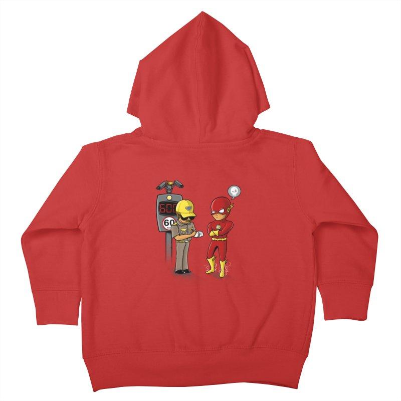 Speed Flash Kids Toddler Zip-Up Hoody by zakeu's Artist Shop