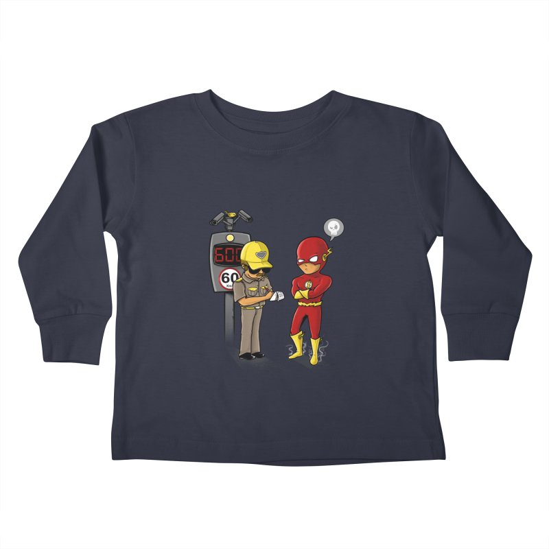 Speed Flash Kids Toddler Longsleeve T-Shirt by zakeu's Artist Shop