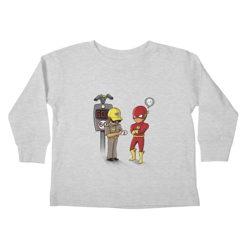 Speed Flash Kids Toddler Longsleeve T-Shirt by zakeu's Artist Shop