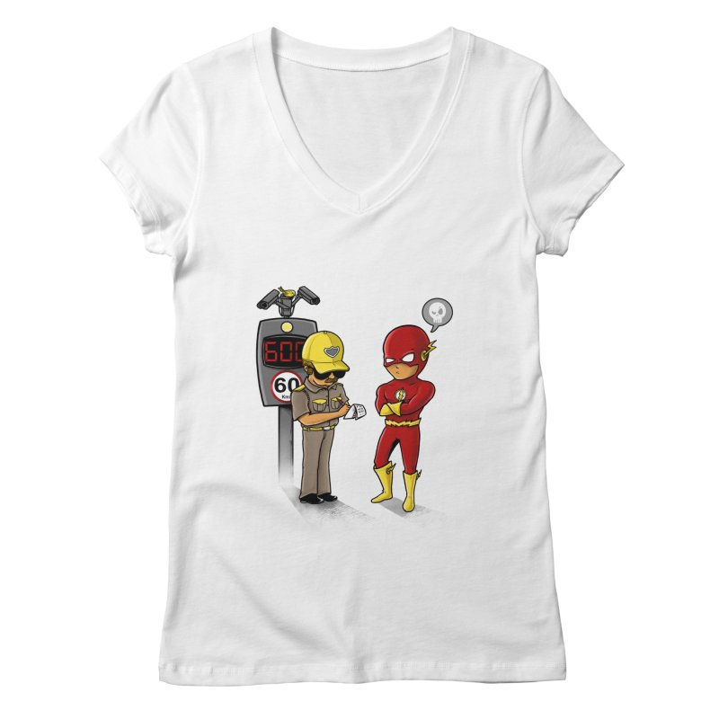 Speed Flash Women's V-Neck by zakeu's Artist Shop