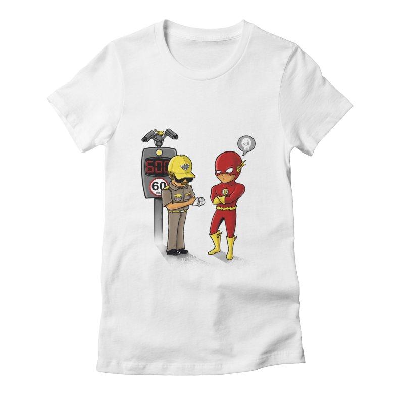 Speed Flash Women's Fitted T-Shirt by zakeu's Artist Shop