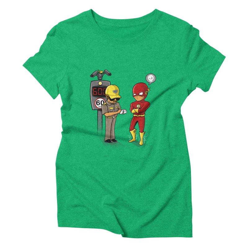 Speed Flash Women's Triblend T-Shirt by zakeu's Artist Shop