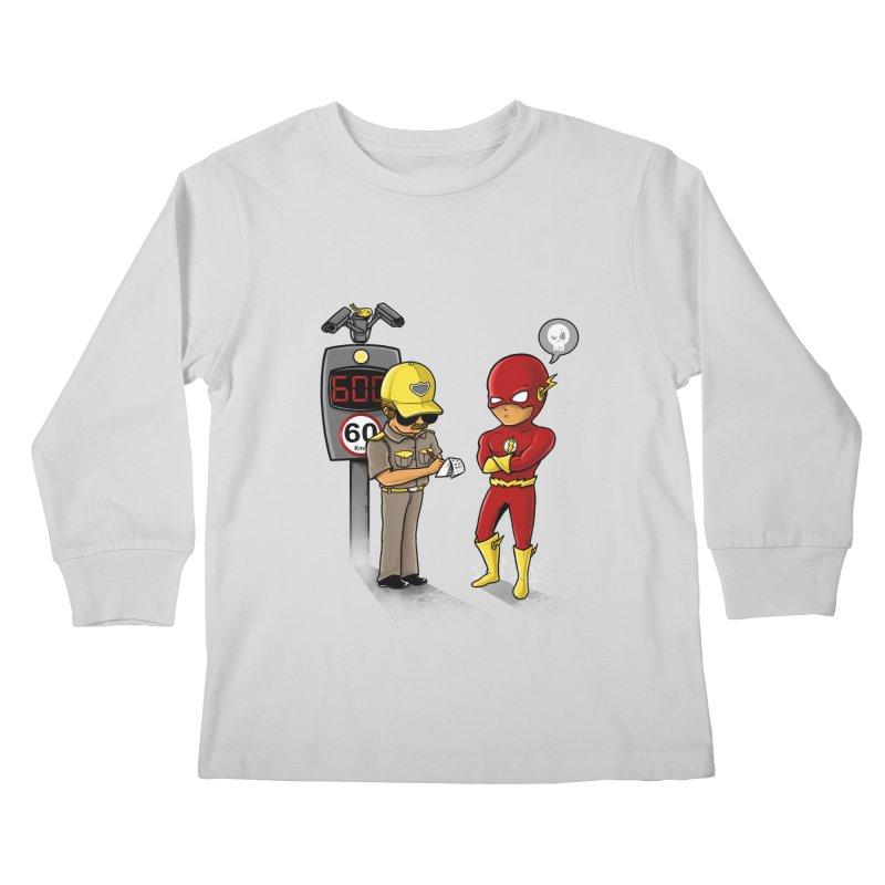 Speed Flash Kids Longsleeve T-Shirt by zakeu's Artist Shop