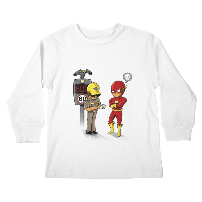 Speed Flash Kids Longsleeve T-Shirt by zakeu's Artist Shop