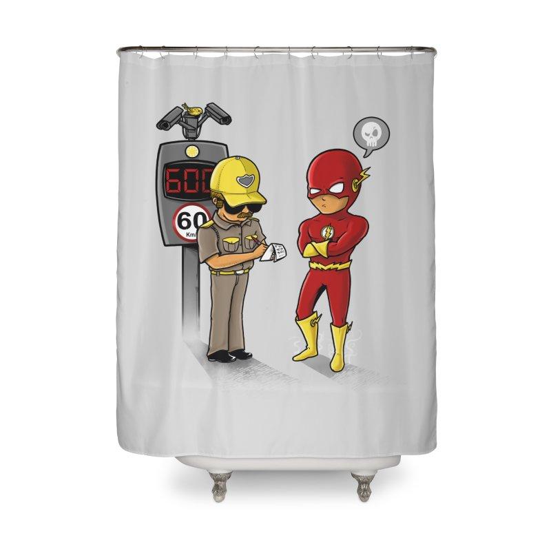 Speed Flash Home Shower Curtain by zakeu's Artist Shop