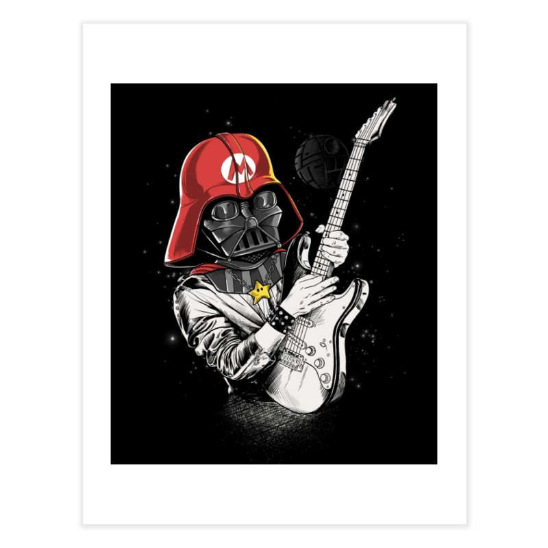 Darth Mario Rockstar Home Fine Art Print by zakeu's Artist Shop