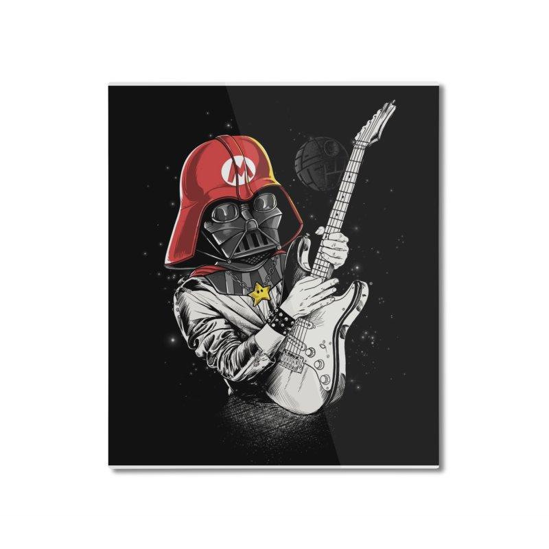 Darth Mario Rockstar Home Mounted Aluminum Print by zakeu's Artist Shop