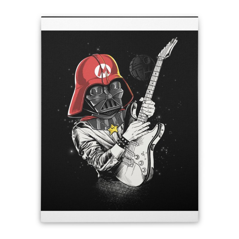 Darth Mario Rockstar Home Stretched Canvas by zakeu's Artist Shop