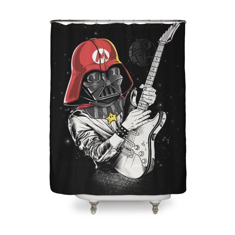 Darth Mario Rockstar Home Shower Curtain by zakeu's Artist Shop