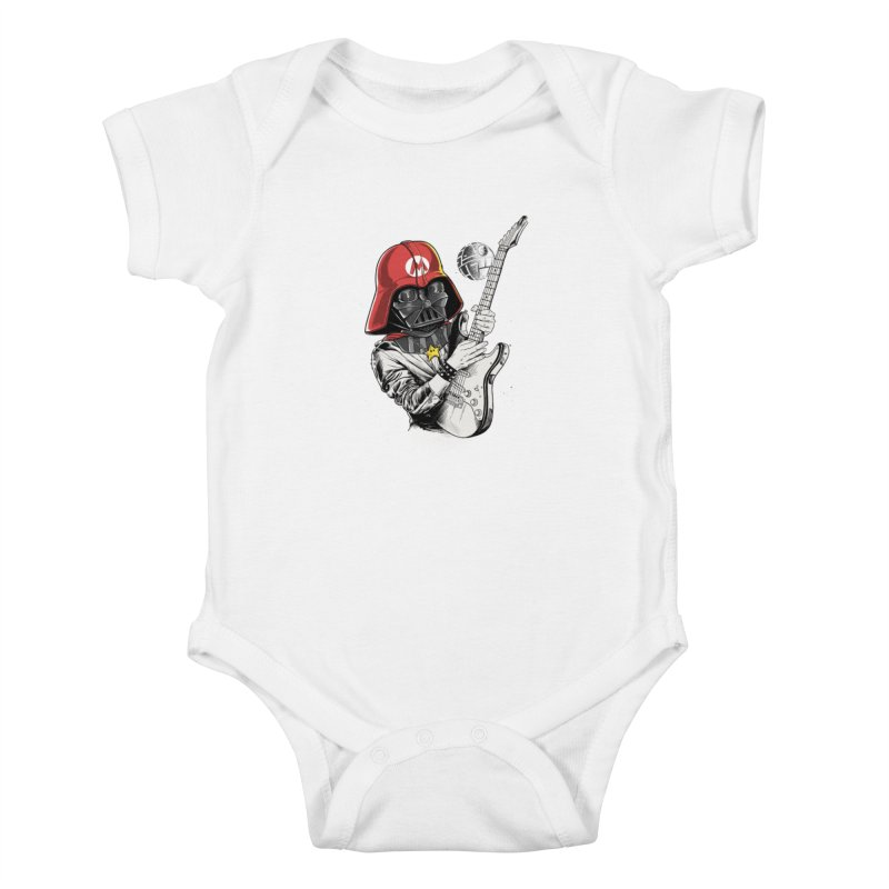 Darth Mario Rockstar Kids Baby Bodysuit by zakeu's Artist Shop