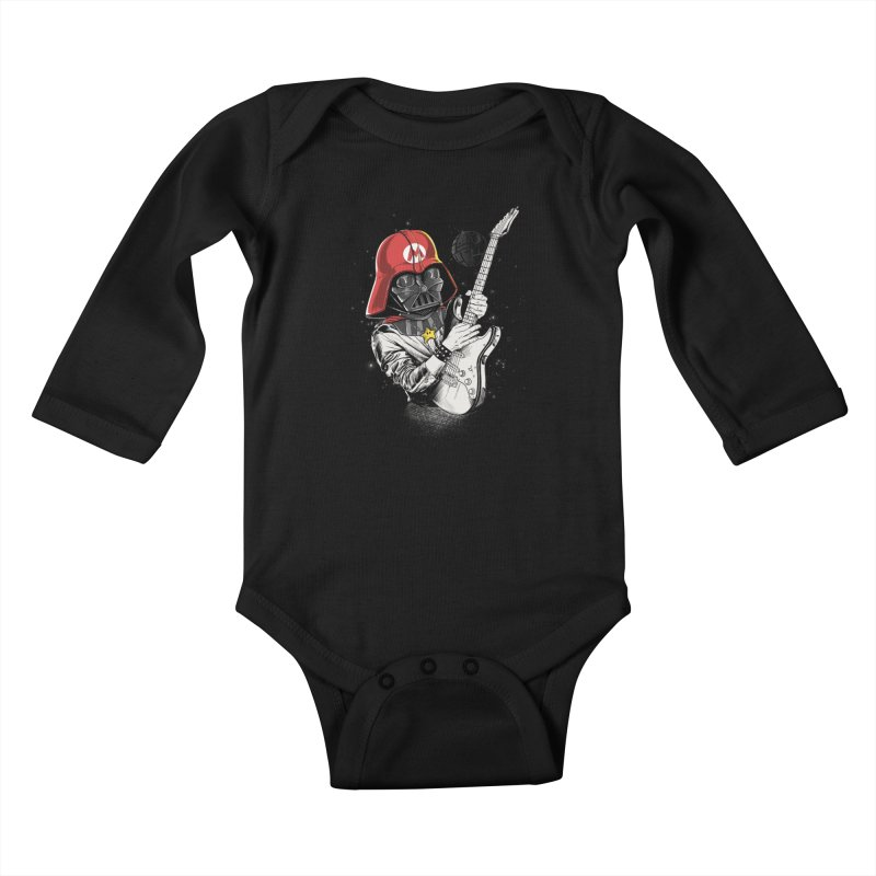 Darth Mario Rockstar Kids Baby Longsleeve Bodysuit by zakeu's Artist Shop