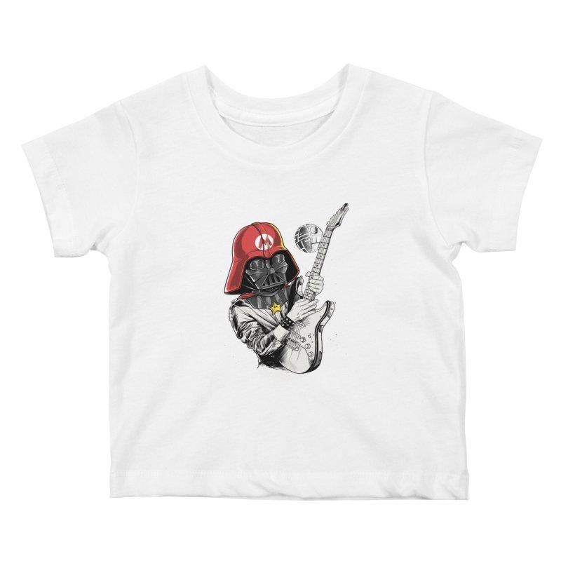 Darth Mario Rockstar Kids Baby T-Shirt by zakeu's Artist Shop