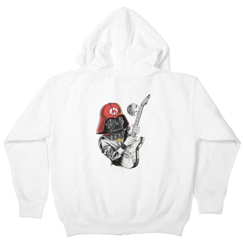 Darth Mario Rockstar Kids Zip-Up Hoody by zakeu's Artist Shop