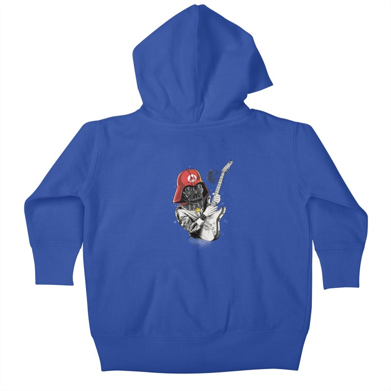 Darth Mario Rockstar Kids Baby Zip-Up Hoody by zakeu's Artist Shop