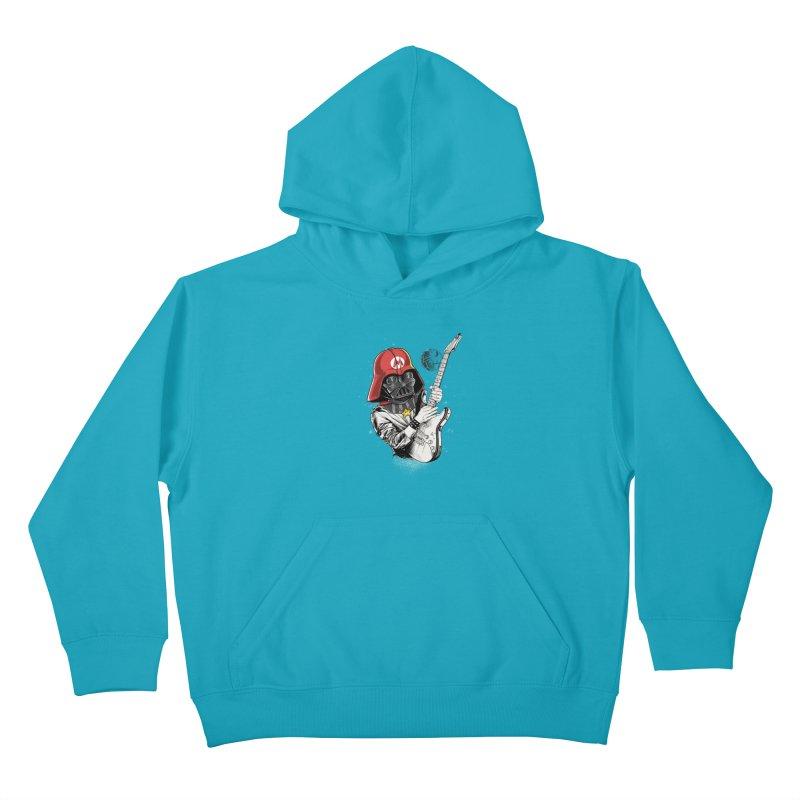 Darth Mario Rockstar Kids Pullover Hoody by zakeu's Artist Shop