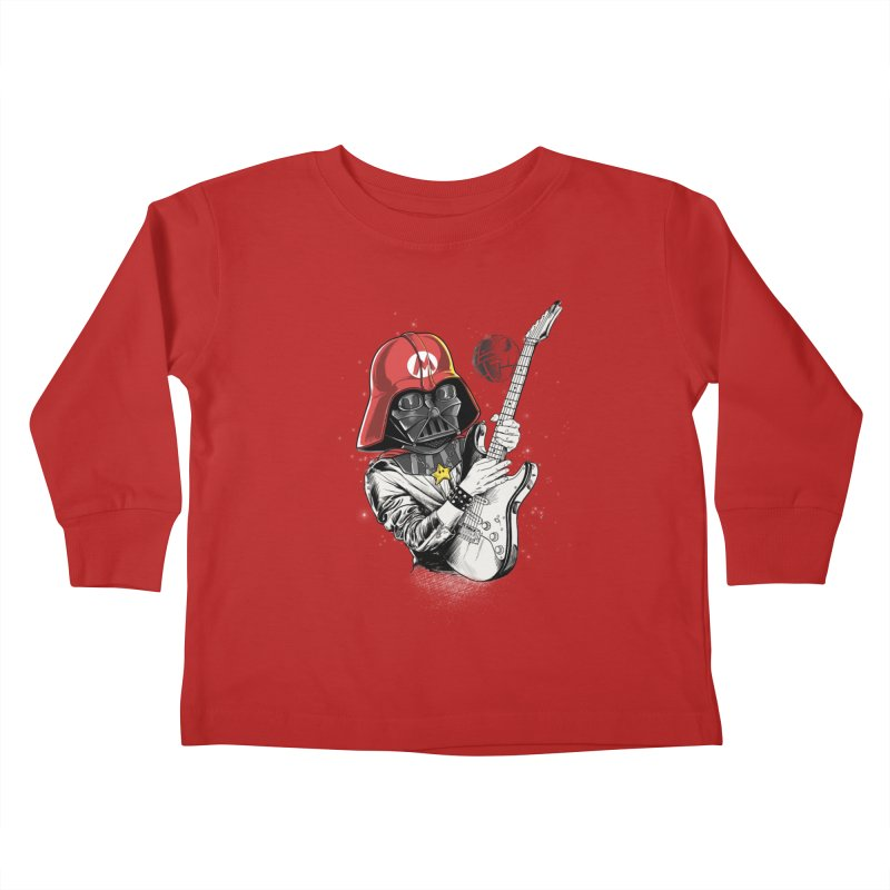 Darth Mario Rockstar Kids Toddler Longsleeve T-Shirt by zakeu's Artist Shop