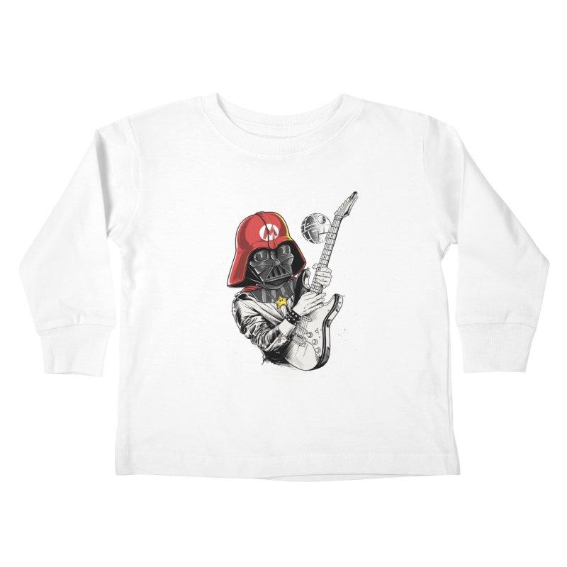 Darth Mario Rockstar Kids Toddler Longsleeve T-Shirt by zakeu's Artist Shop