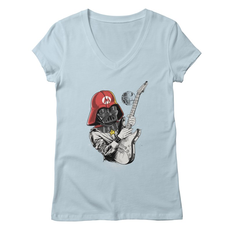 Darth Mario Rockstar Women's V-Neck by zakeu's Artist Shop