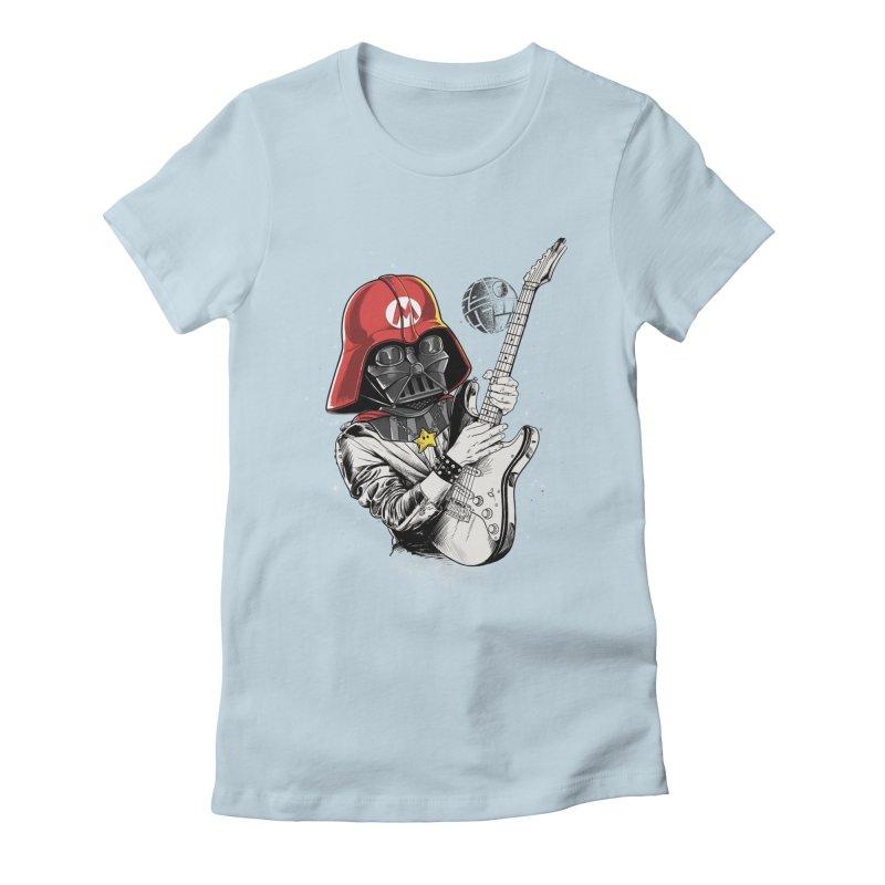 Darth Mario Rockstar Women's Fitted T-Shirt by zakeu's Artist Shop