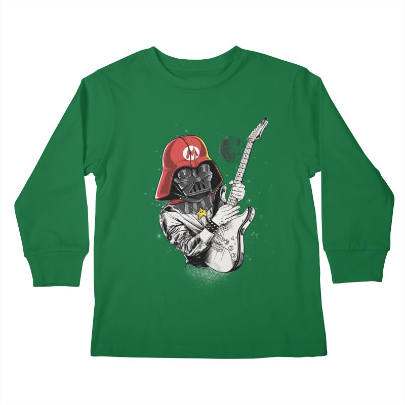 Darth Mario Rockstar Kids Longsleeve T-Shirt by zakeu's Artist Shop
