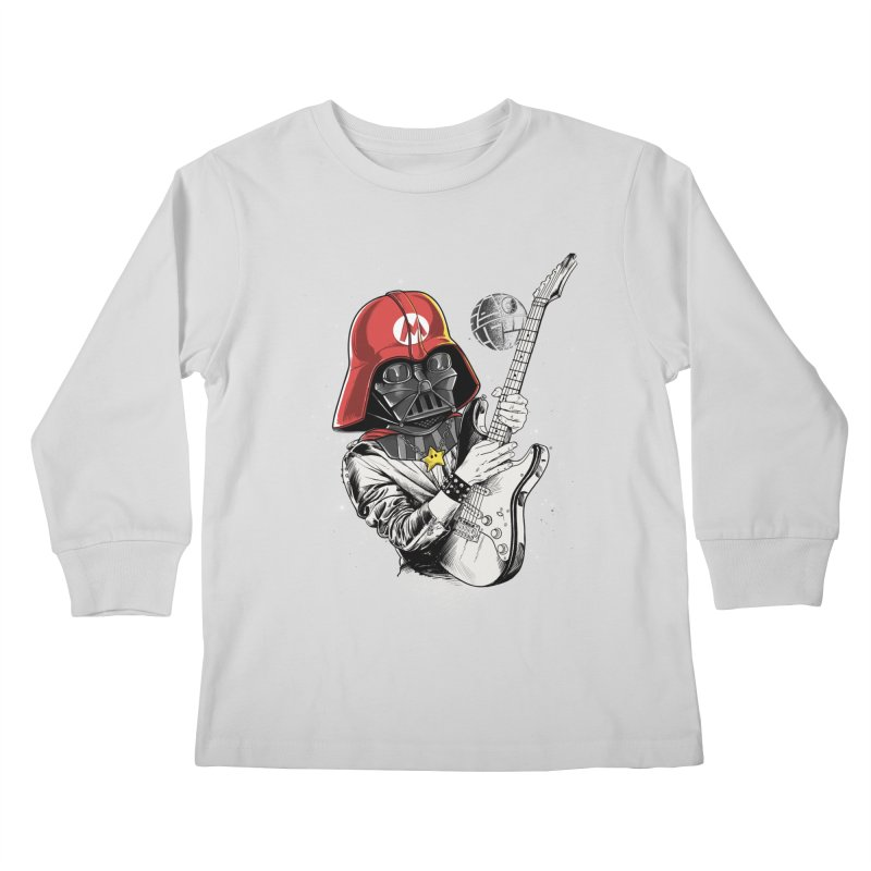 Darth Mario Rockstar Kids Longsleeve T-Shirt by zakeu's Artist Shop