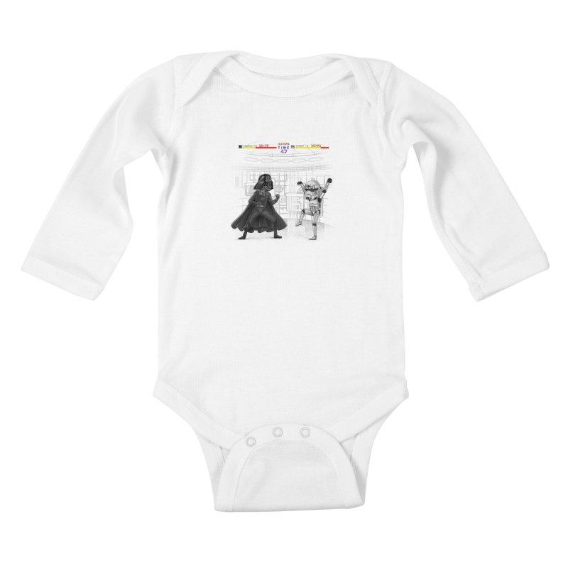 Final Fight Kids Baby Longsleeve Bodysuit by zakeu's Artist Shop