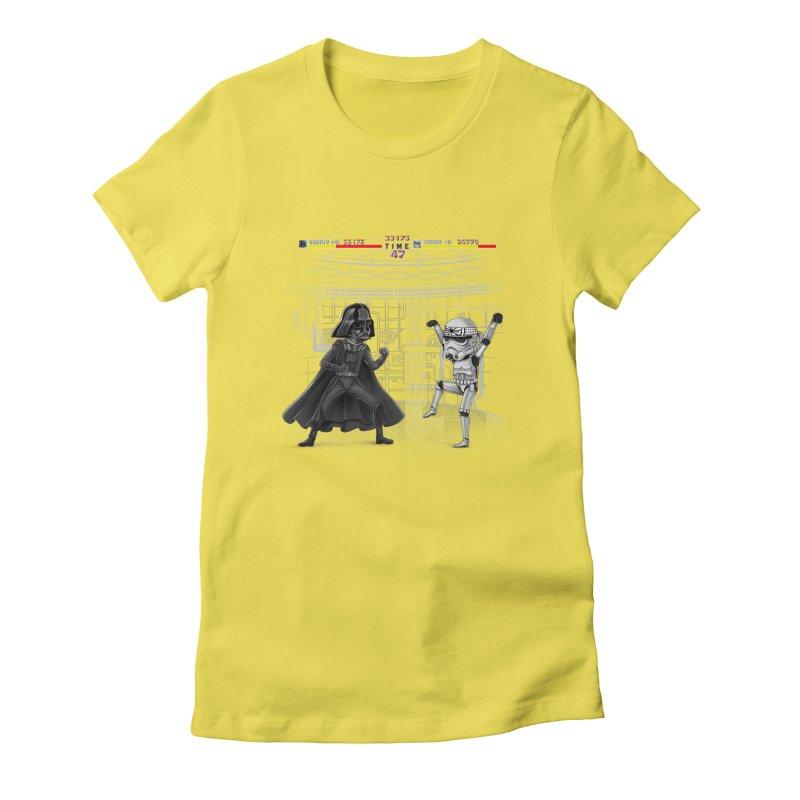 Final Fight Women's Fitted T-Shirt by zakeu's Artist Shop