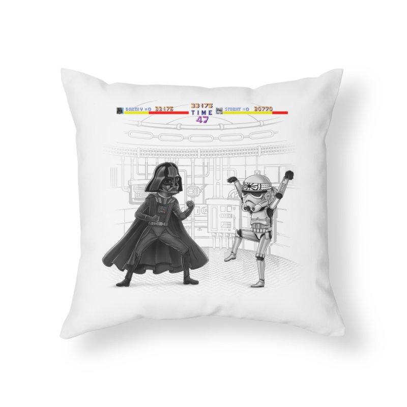 Final Fight Home Throw Pillow by zakeu's Artist Shop
