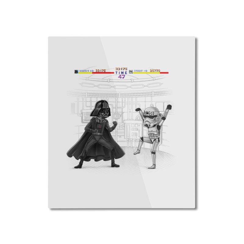 Final Fight Home Mounted Aluminum Print by zakeu's Artist Shop