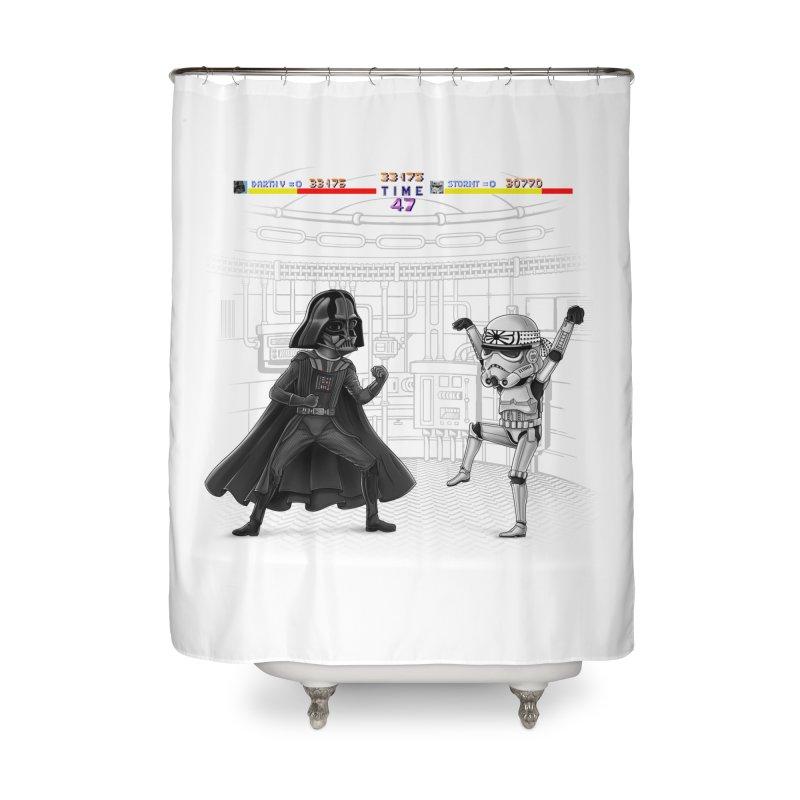Final Fight Home Shower Curtain by zakeu's Artist Shop