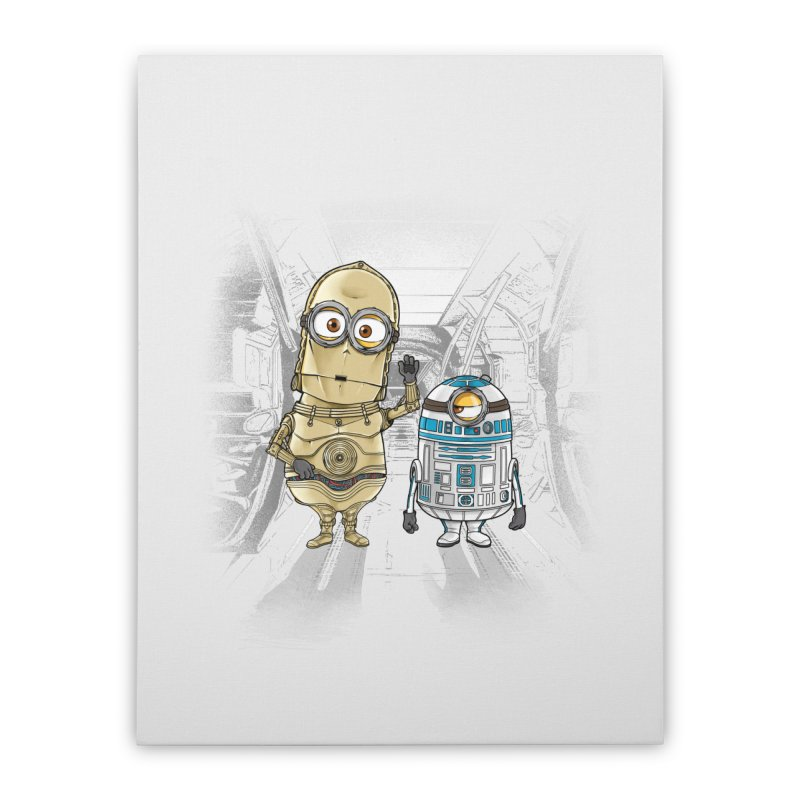 M2D2 AND M3PO Home Stretched Canvas by zakeu's Artist Shop