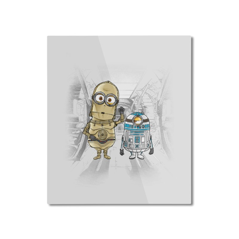 M2D2 AND M3PO Home Mounted Aluminum Print by zakeu's Artist Shop